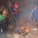 Sandsteinhöhle Grillfeuer