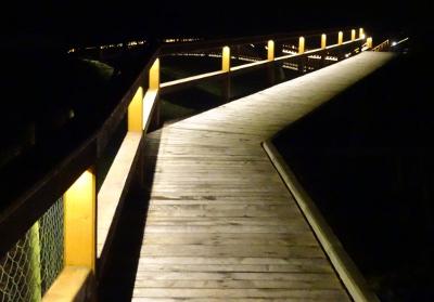 Bohlensteg zur Brücke hin
